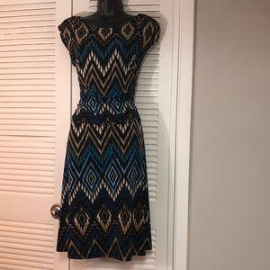 EnFocus Studio plus 14 blue multi color dress